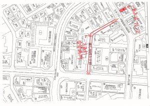 一方通行を要望する道路図201608